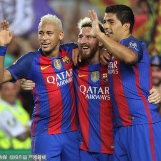 2016Äê9ÔÂ14ÈÕ£¬2016-2017Èü¼¾Å·¹ÚÁªÈüÐ¡×éÈüC×飺°ÍÈûÂÞÄÇvs¿¶ûÌØÈË¡£ Neymar da Silva Santos. Lionel Messi and Luis Suarez of Barcelona celebrating the 5th goal during the Champions League match, date 1, between FC Barcelona and Celtic Glasgow played at the Camp Nou, Barcelona, Spain on 13th September 2016 --------------------  Football - UEFA Champions League 2016/17 Group Stage Group C Barcelona v Celtic Camp Nou, Barcelona, Spain 13 September 2016 ©2016  all rights reserved